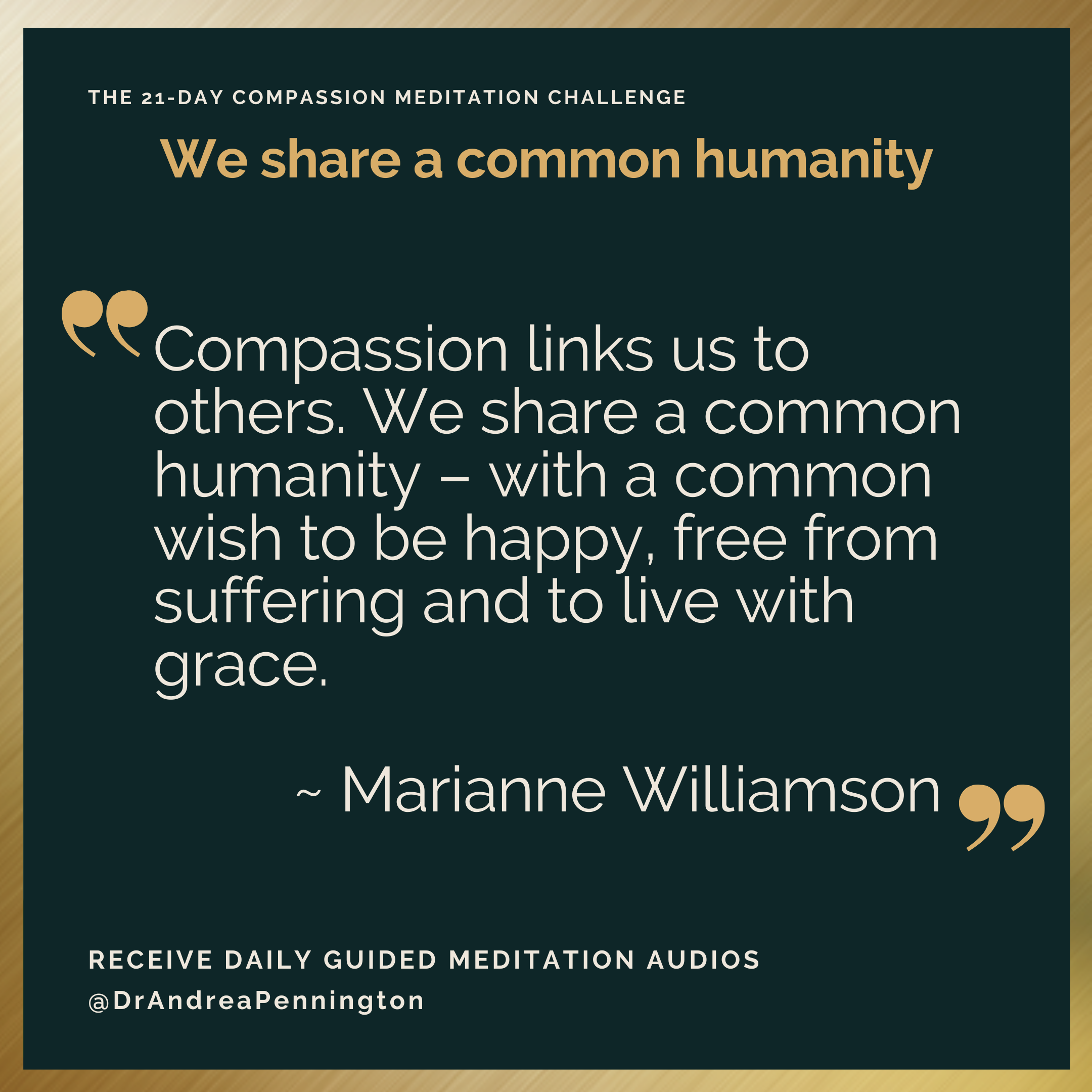 Day 6 Marianne Williamson