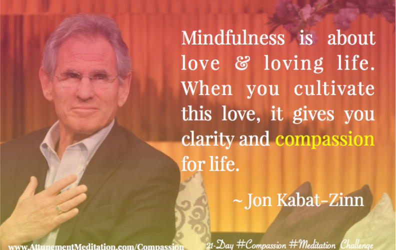 Day 16: Mindfulness is about loving life ~ Jon Kabat-Zinn