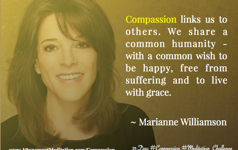 Day 6:  Marianne Williamson ~ We share a common humanity